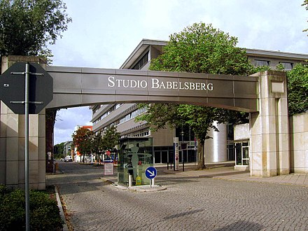 Founded in 1912, the Babelsberg Studio near Berlin was the first large-scale film studio in the world, and the forerunner to Hollywood. It still produces global blockbusters every year. Filmstudio Babelsberg Eingang.jpg