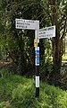 Fingerpost on Downhall Road and Little Laver Road junction at Matching Green, Essex, England.jpg