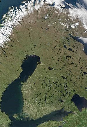 Geography of Finland - Satellite image