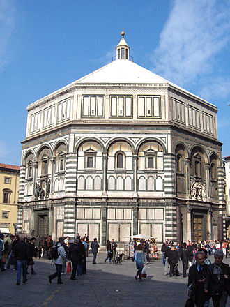 Baptistery - St. Giovanni Baptistery in Florence, Italy