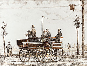 Electromote - World's first trolleybus, Berlin 1882