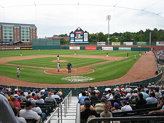 Double-A (baseball) - Double-A baseball game in action: New Hampshire Fisher Cats