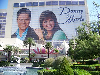 Marie Osmond - Donny and Marie Osmond on the front of the Flamingo Las Vegas, 2008.