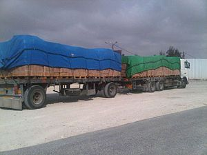 Kerem Shalom border crossing - Cargo entering Gaza at Kerem Shalom crossing