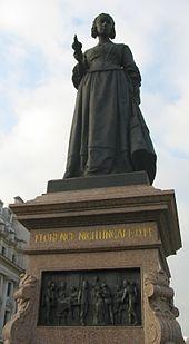 florence nightingale  statue of nightingale by arthur george walker in waterloo place london
