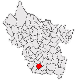 Location of Florica in Buzău County