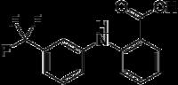 Strukturformel von Flufenaminsäure
