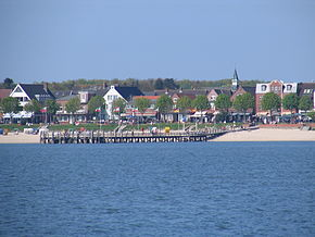 Wyk's beach promenade as seen from the water