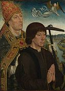 Follower of Simon Marmion - Donor protected by Saint Clement NG2669.jpg