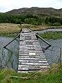 Footbridge, Loch Carnain an Amais - geograph.org.uk - 182425.jpg