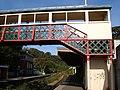 Footbridge at Torre Station - geograph.org.uk - 256781.jpg
