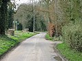 Footpath crossing road near Tadridge Farm - geograph.org.uk - 359903.jpg