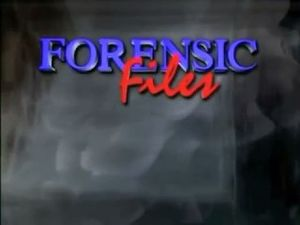 "Forensic Files - A slightly altered title display of the one above used for episodes ""Reel Danger"" and ""The Alibi"" of Season 7."