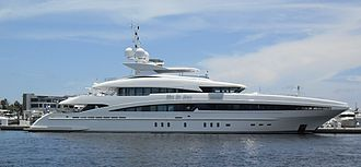 Broward County, Florida - A yacht in Fort Lauderdale's harbor