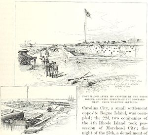 Siege of Fort Macon - Fort Macon after the battle