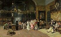 Fortuny - La Vicaría (Museo Nacional de Arte de Cataluña, 1870. Óleo sobre tabla, 60 x 93,5 cm).jpg