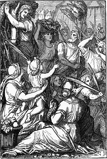 Carrying Branches To Make Booths (illustration...