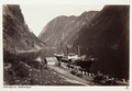 Fotografi av Naeröfjord i Gudvangen, Norge - Hallwylska museet - 105707.tif
