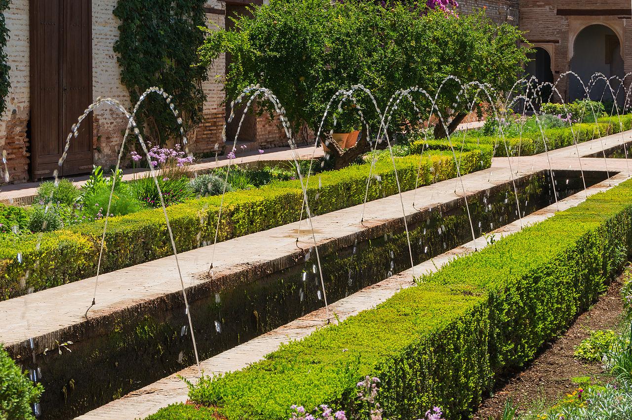 File fountain patio de la acequia generalife granada - Patios de granada ...