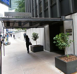The Four Seasons Restaurant - 52nd Street entrance to the Four Seasons Restaurant
