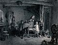 Four young children play together in a kitchen as their moth Wellcome V0039337.jpg