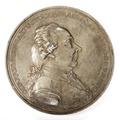 Framsida av medalj i vitmetall med friherre Carl Sparre i profil, 1791 - Skoklosters slott - 99271.tif