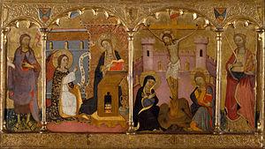 Saint John the Baptist, Annunciation, Crucifixion, Saint Catherine of Alexandria