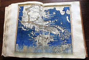 Francesco Berlinghieri - A map of Greece in Geographia