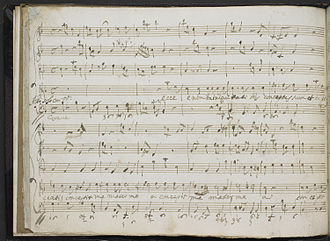 Francesco Scarlatti - Autograph manuscript of Scarlatti's  Miserere mei Deus