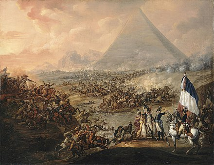Battle of the Pyramids by Francois-Louis-Joseph Watteau, 1798-1799 Francois-Louis-Joseph Watteau 001.jpg