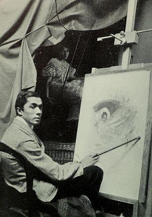 Frank Xavier Leyendecker - Image: Frank Xavier Leyendecker in his Studio