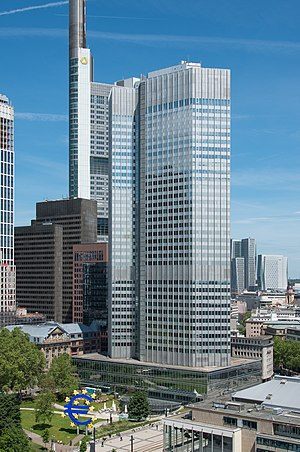 Eurotower (Frankfurt am Main) - Image: Frankfurt Eurotower.20130603