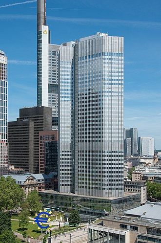 Single Supervisory Mechanism - Current home of the SSM (since March 2016), the Eurotower in Frankfurt