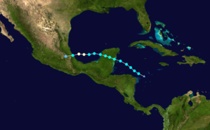 Hurricane Franklin - Image: Franklin 2017 track
