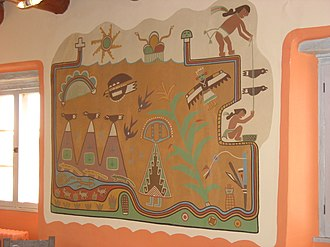 Fred Kabotie - Mural at Petrified Forest