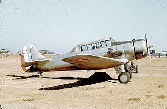 North American NA-64 Yale - French Air Force NAA-64 in service after World War 2, in French controlled Morocco with a replacement rudder.