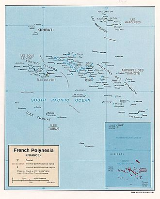 Geography of the Pitcairn Islands - Image: French Polynesia map