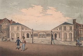 Front View of the New Market Place, Abergavenny: Erected in the year 1826