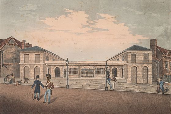 Front View of the New Market Place, Abergavenny - Erected in the year 1826.jpeg