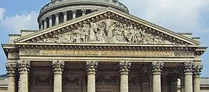 Edme Gaulle - Image: Fronton Pantheon Paris 06062007