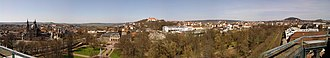 Fulda - Panorama of Fulda from the town castle