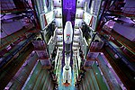 Fully Integrated GSLV-F08 inside the Vehicle Assembly Building.jpg