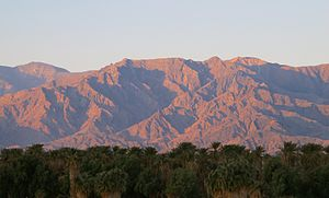 Furnace Creek, California - Furnace Creek oasis and the Panamint Range, Death Valley, 2012