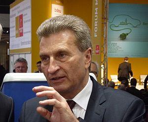 Günther Oettinger - Oettinger at Hannover Messe, 2013