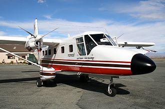 GAF Nomad - Air Safaris Nomad N24A at Lake Tekapo Airport in 2006.