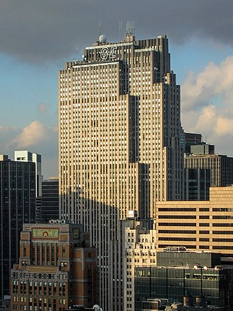 NBC - The Comcast Building in New York City (or the GE Building, originally the RCA Building) serves as the headquarters of NBC