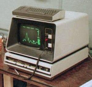 Lunar Lander (1979 video game) - DEC GT40 graphics terminal running Moonlander