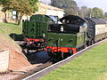 GWR 4-6-0 7828 'Odney Manor' & SR WC 34046 'Braunton' Washford, WSR, 2.10.2011 PA020003 (9972170064).jpg