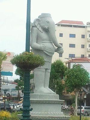 Religion in Cambodia - Ganesha statue in Phnom Penh