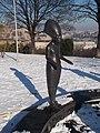Garden of Philosophy. Statue of Akhenaten. - Gellért Hill, Budapest.JPG